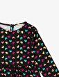 Koton Kids Desenli Elbise Siyah
